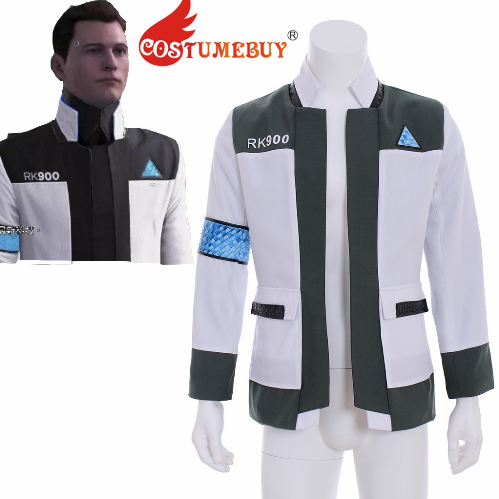 CostumeBuy Game Game Detroit Become Human Cosplay Jacket Top Adult Mens RK900 Cosplay Costume Jacket L320