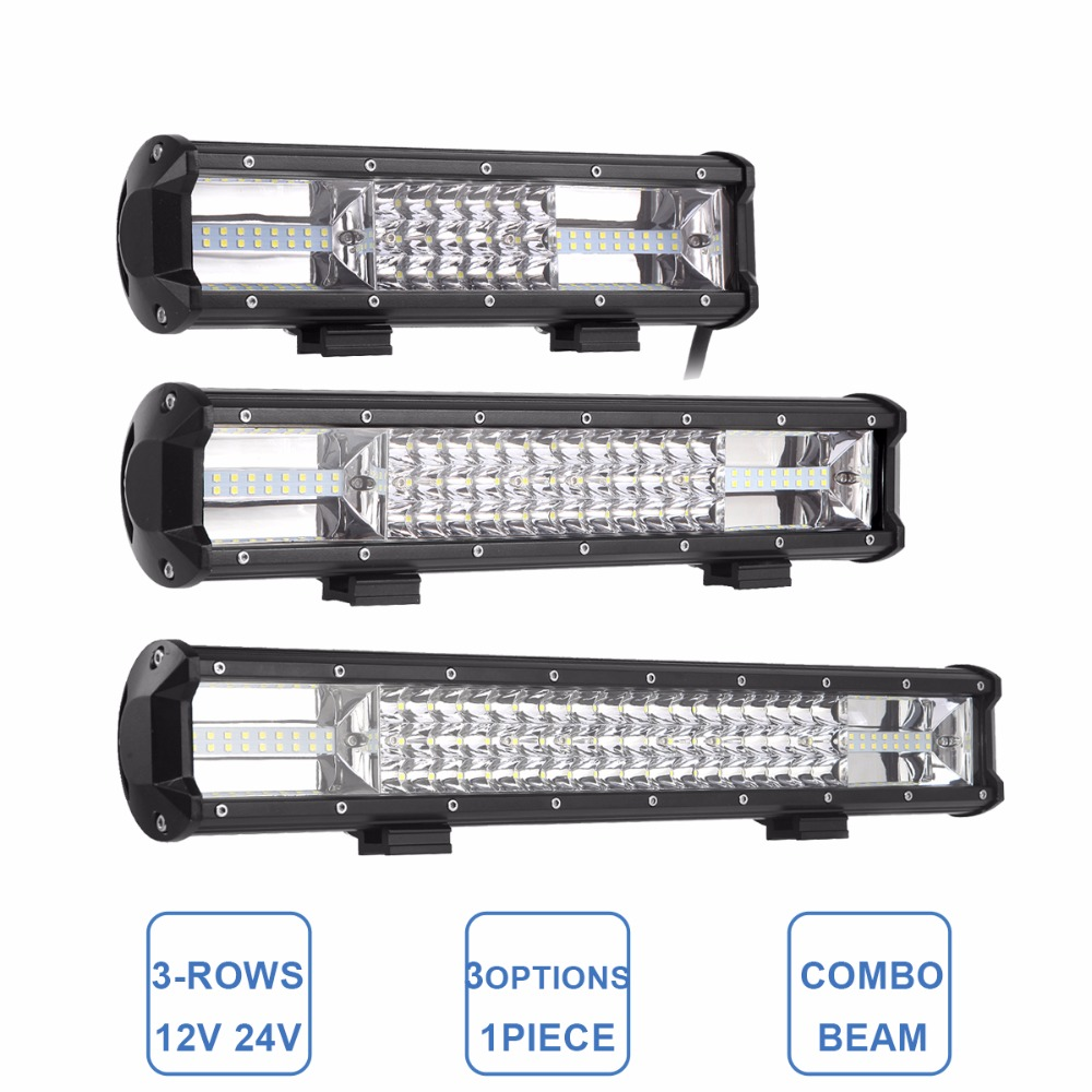 12 15 19 Inch Off Road Led Light Bar Indicator Auxiliary