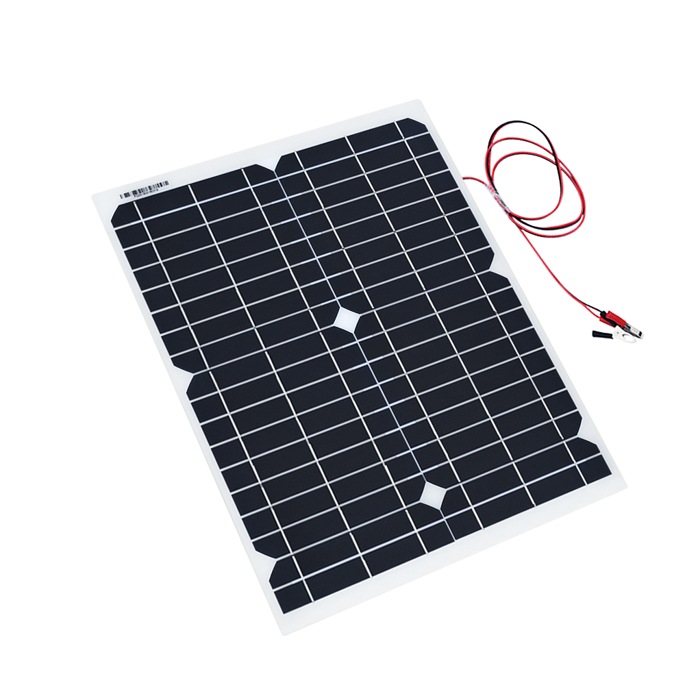 PV Monocrystalline 18V RV Solar Solar cell Panel Solar Power Portable Energy Supply 20W Car Emergency Charger for Generator Boat outdoor solar panel 20w 18v portable solar cell emergency power supply solar generator usb dc port solar panels power charger