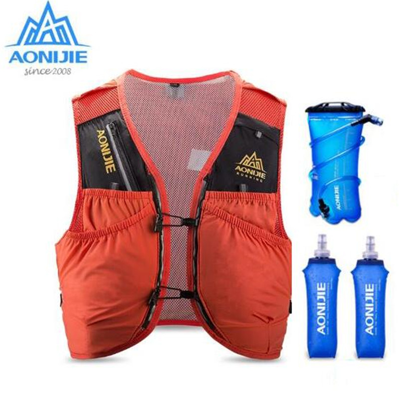 AONIJIE Advanced Skin Vest Backpack Hydration Pack Rucksack Bag Harness Water Bladder Hiking Camping Running Marathon Race 10L in Running Bags from Sports Entertainment