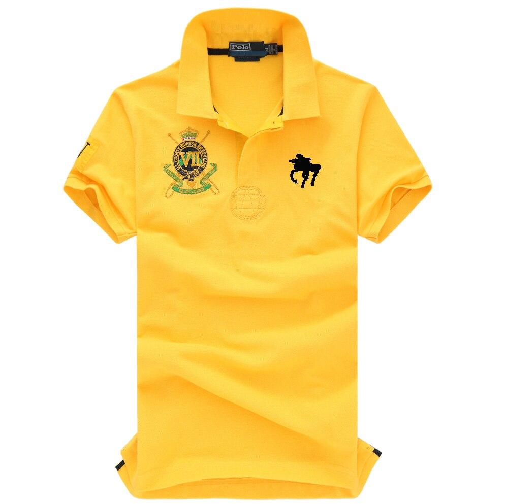 2019 New mens   polo   shirt brands 100% Cotton crocodile   polo   shirt men lapel Embroidery men   polo   shirt short sleeve