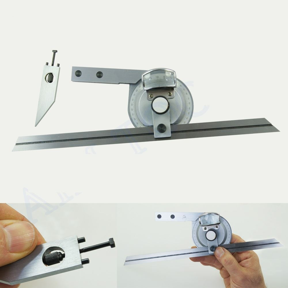 0 360 precision universal bevel magnifier vernier adjustable protractor