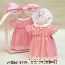 smokeless scented creative pink Baby skirt blue strap pants cake decoration candle for children baby birthday part wedding gift