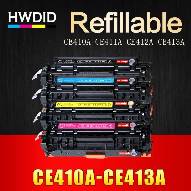 HWDID 1pcs CE410A CE411A CE412A CE413A 305A Compatible Toner Cartridge for HP LaserJet Pro 300 M351 M375nw M451 M475dn M475dw стоимость