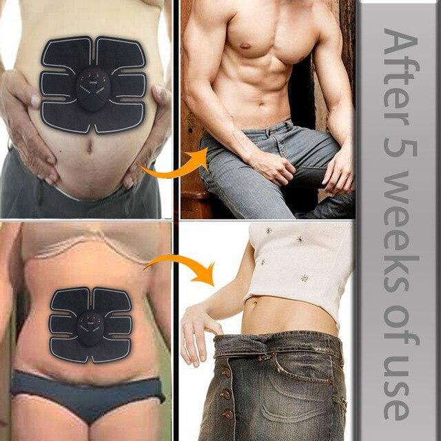 Abdominal Trainer EMS Muscle Stimulator Smart Fitness Hips abs muscle toner Body Massager Slimming Belt Unisex 4
