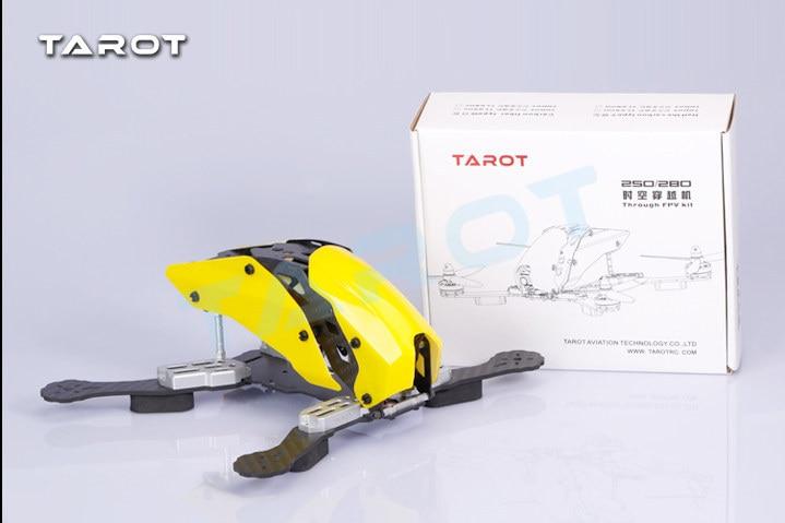 DIY mini drone cross race quadcopter Tarot TL250H/TL280H frame unassembled pure carbon fiber better than robocat diy fpv mini drone qav210 zmr210 race quadcopter full carbon frame kit naze32 emax 2204ii kv2300 motor bl12a esc run with 4s