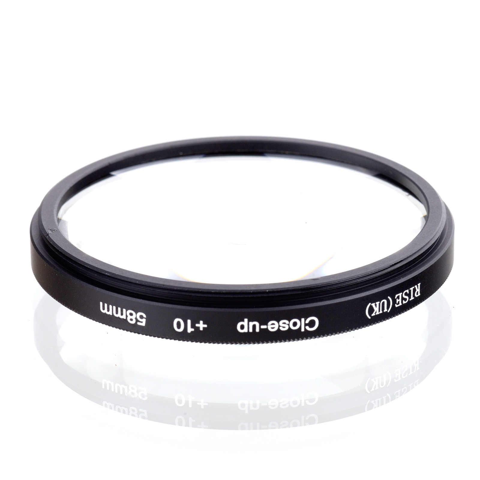 Naik (Inggris) 58 Mm Macro Close-Up + 10 Close Up Filter untuk DSLR Kamera Digital 58 Mm Lensa