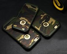 2 в 1 Армия Камуфляж Камуфляж Задняя Крышка Жесткого Пластика И мягкие TPU Броня Защитный Телефон Случаях Для iPhone 5 5S 6 6 плюс