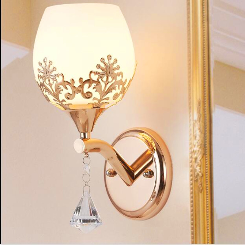 Decorative Wall Lamps modern led crystal glass wall lamps bedroom living room restaurant