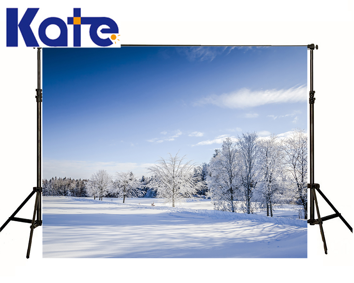 KATE Children Photo Backdrop Snow Is Land Forest Photo Shoot Scenery Blue Sky Photography Background For Photo Shoot Studio blue sky чаша северный олень