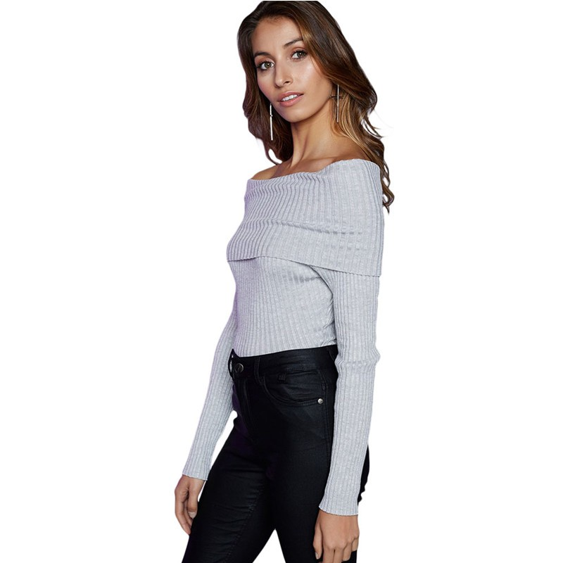 Gray-Off-Shoulder-Ribbed-Knit-Long-Sleeve-Bodysuit-LC32083-11-19311-52909