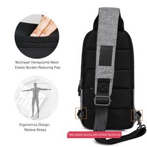 Image 5 - KAKA 럭셔리 브랜드 가슴 가방 USB 메신저 크로스 바디 가방 어깨 슬링 가방 방수 짧은 여행 휴대 전화 가방