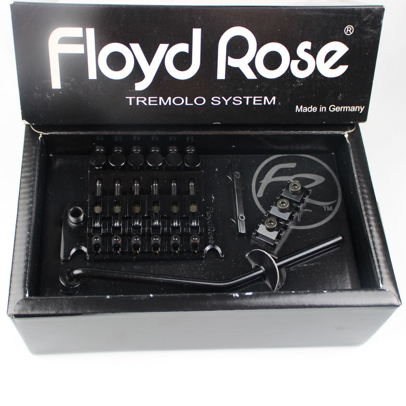 Floyd Rose FRT200 Original StyleTremolo System Bridge With R3 Nut Black With Accessories (Free Gift Stainless Steel Screw Set)