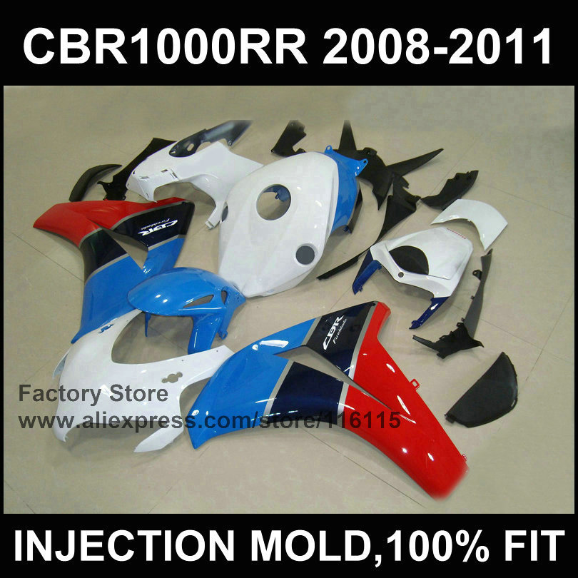 Blue white fairing set ! Injection mold for HONDA CBR1000RR 2008 2009 2010 2011 Brand fairing part 08 09 10 11 12 cbr1000 rr arashi motorcycle radiator grille protective cover grill guard protector for 2008 2009 2010 2011 honda cbr1000rr cbr 1000 rr