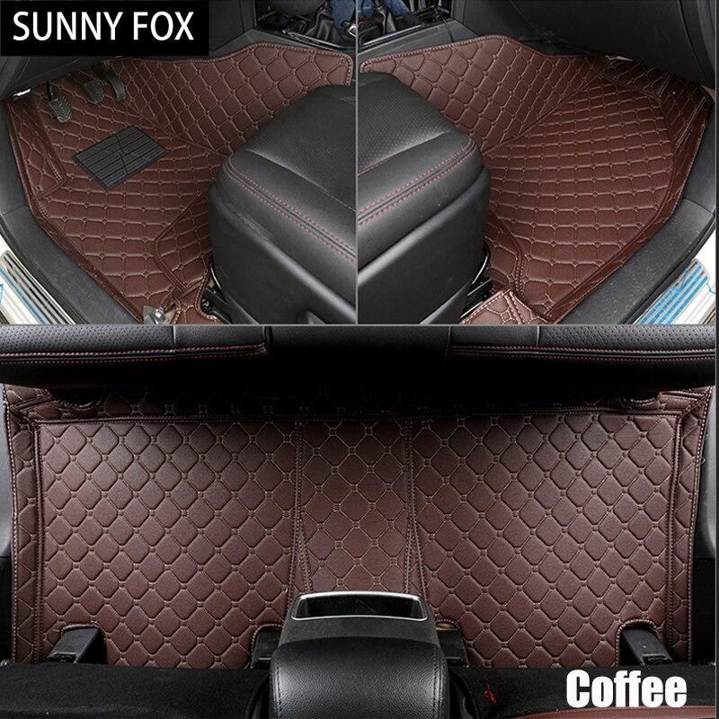 SUNNY FOX Car floor mats for Peugeot 206 207 2008 301 307 308sw 3008 408 4008 508 rcz car styling carpet floor liner