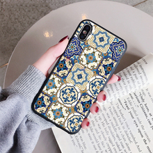 Ethnic Style Flower Soft silicone Case For iphone XS Max XR XS 8 8plus 7 7plus 6/6S Plus 5 5s se 11 pro max Soft TPU Back Cover