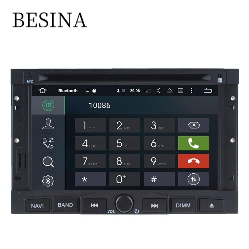 Besina Android 8.0 Car DVD Player For Peugeot 3008 5008 Partner Citroen Berlingo Multimedia GPS WIFI Octa Cores 4GB RAM Radio
