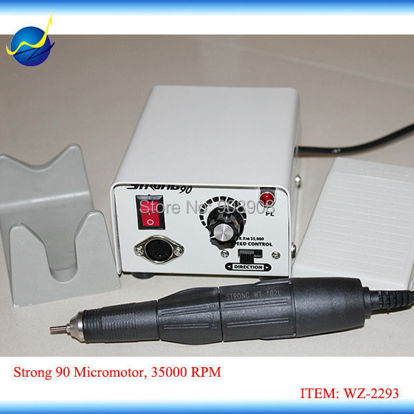 35K RPM STRONG 90 Micromotor for Dental Lab, Nail Fill Dremel Polishing, Cutting, Milling, Trimming, Grinding & Casting 220V