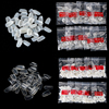 1 Bag For 600 False Nail Art Tips Full Round Acrylic UV Gel Nail Tips For Decoration M01922