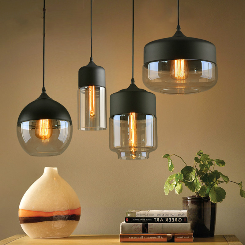 Nordic modern pendant lights  loft glass E27 E26 bulb LED kitchen hanging lamps restaurant bar living room bedroom lampsNordic modern pendant lights  loft glass E27 E26 bulb LED kitchen hanging lamps restaurant bar living room bedroom lamps