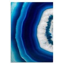 Painel da parede da lona Pintura Da arte de cristal de ágata azul 1 cartazes de parede pictures para sala de estar decoração de casa adesivos de parede