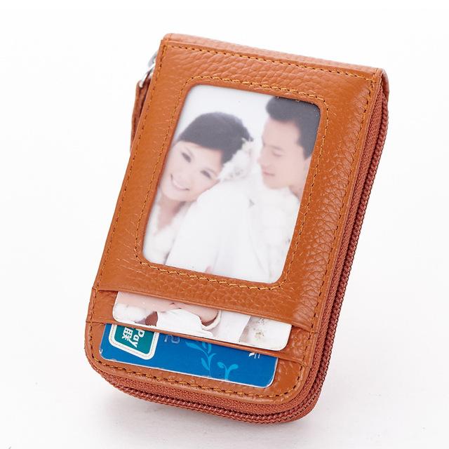 Genuine Leather Credit Card Holders Organ Female Card Holder Wallet Women Business Cardholder Organizer Men Purse by 8 Colors