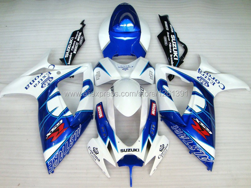 Инъекция для SUZUKI K6 06 07 синий H49753 GSXR750 GSX-R750 GSXR 750 2006 2007 GSXR-750 обтекатель КУЗОВ