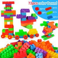 72pcs Child DIY Creative Intelligence Educational City Model Bricks for Kids Toys Building Blocks Children Construction Toys