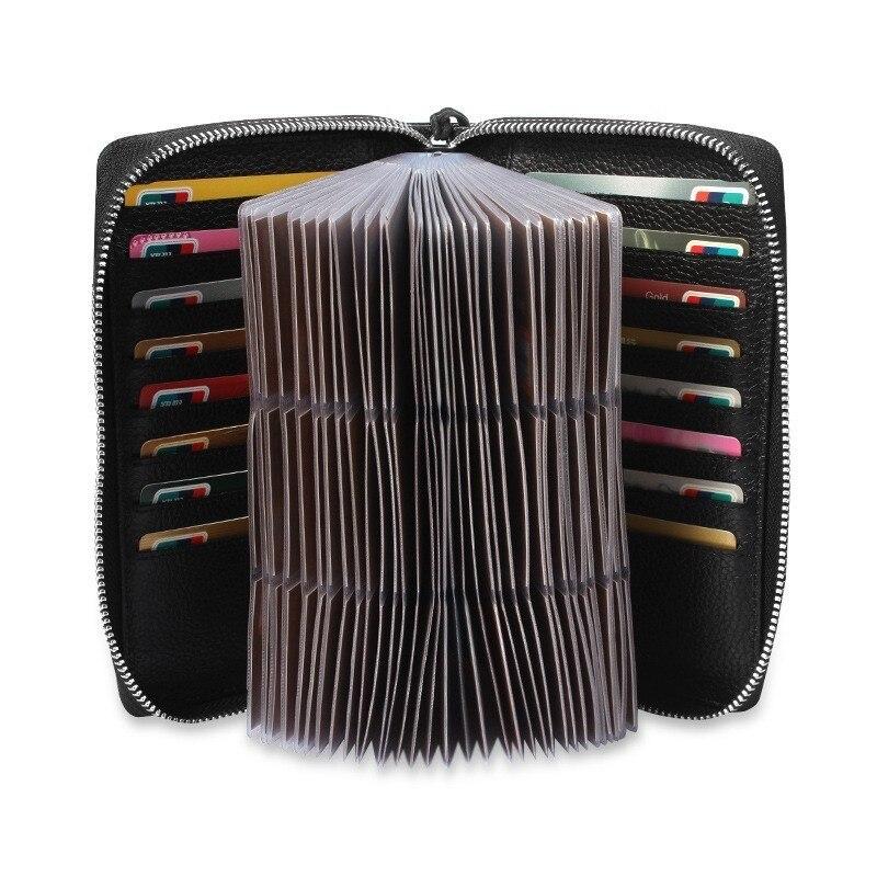 Men Genuine Leather Card Holder Credit Card Case Organizer Passport Wallet Blocking Card Wallets Purse