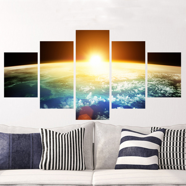 Aliexpresscom  Buy HD Printed  Piece Removable Space Wall - Wall decals hd