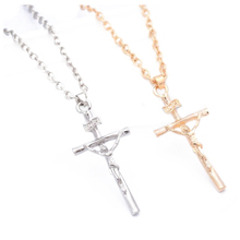 2 Pcs Jewelry Models Clavicle Chain Necklace Cross Jesus Christ