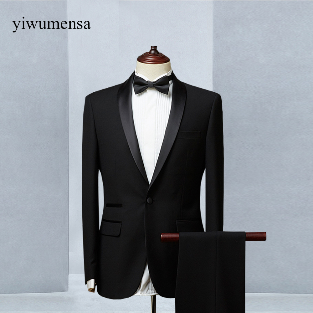 yiwumensa 2018 terno slim fit tweed men suit 3 piece suits wedding ...