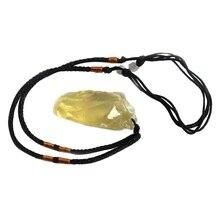 Экологический желтый кристалл сырье натуральный цитрин камни Pandent желтый кварц грубая масса драгоценных камней минералы ожерелье с положительной энергетикой