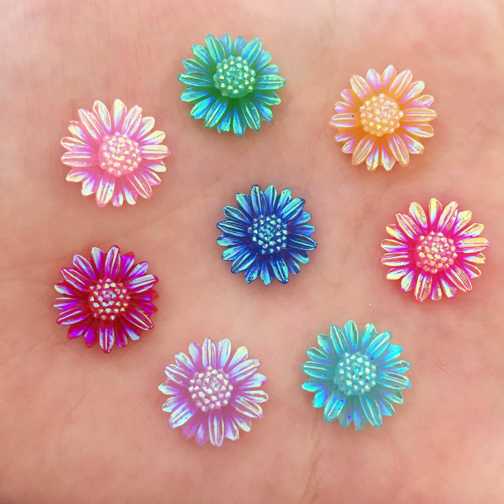 Записки 300 шт. 12 мм AB Смола бабочка цветок Flatback Камень свадебное украшение DIY Craft K63 * 10