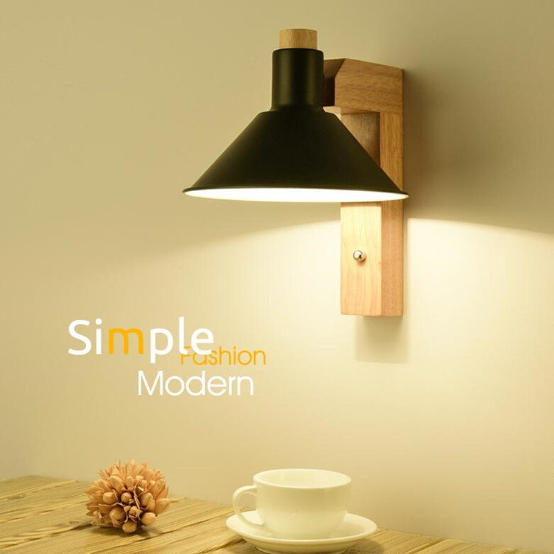 Creative Personality Nordic Bedroom Bedside Wall Lamp Modern Simple Living Room Corridor Aisle Home LED Decoration Lights 2017 new sale post modern simple nordic bedroom study bedside aisle balcony creative personality led wall lamp home decor lights