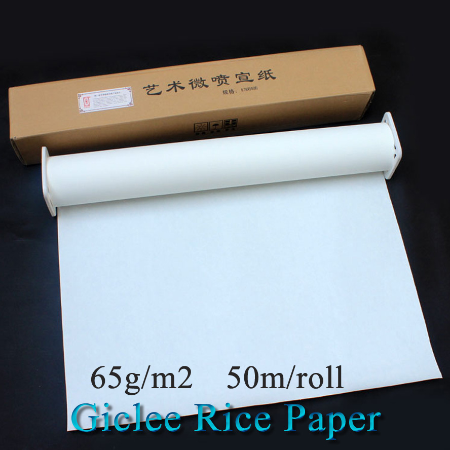 50m/roll Giclee Rice paper with Paint-coat Chinese Painting Calligraphy Xuan Paper for Ink jet printer50m/roll Giclee Rice paper with Paint-coat Chinese Painting Calligraphy Xuan Paper for Ink jet printer