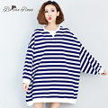 BelineRosa Plus Size Women's Hoodies Winter Autumn Striped Batwing Sleeve Space Cotton Hoodies for Women Fit 2XL~6XL TYW0116