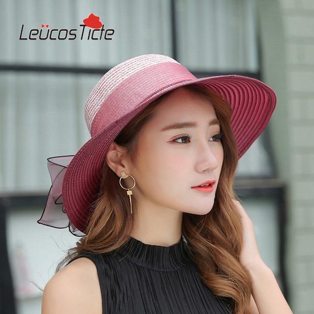 Chapéus de verão para Mulheres Floppy Dobrável Mulheres Grandes Flores de  Praia Sombreiro chapéu de palha 32d9a0cdda4