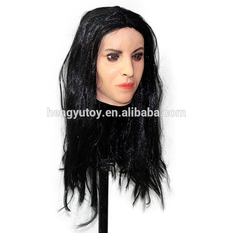 2018 Artificial Halloween Rubber Realistic Diva Female -8543