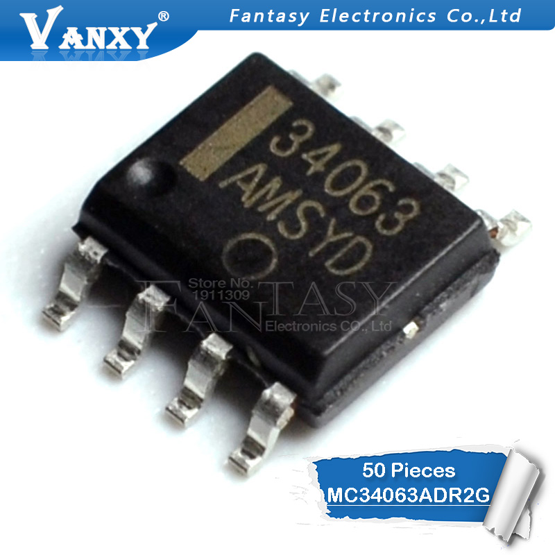 50PCS MC34063A SOP8 MC34063 SOP MC34063ADR MC34063ADR2G SMD New And Original IC