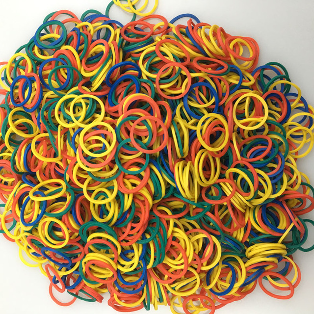 (1000 pieces/lot) Pet Hair Rubber Band 4 Colors High Elasticity Dog Cat Hair Accessories Diameter About 0.59 inch