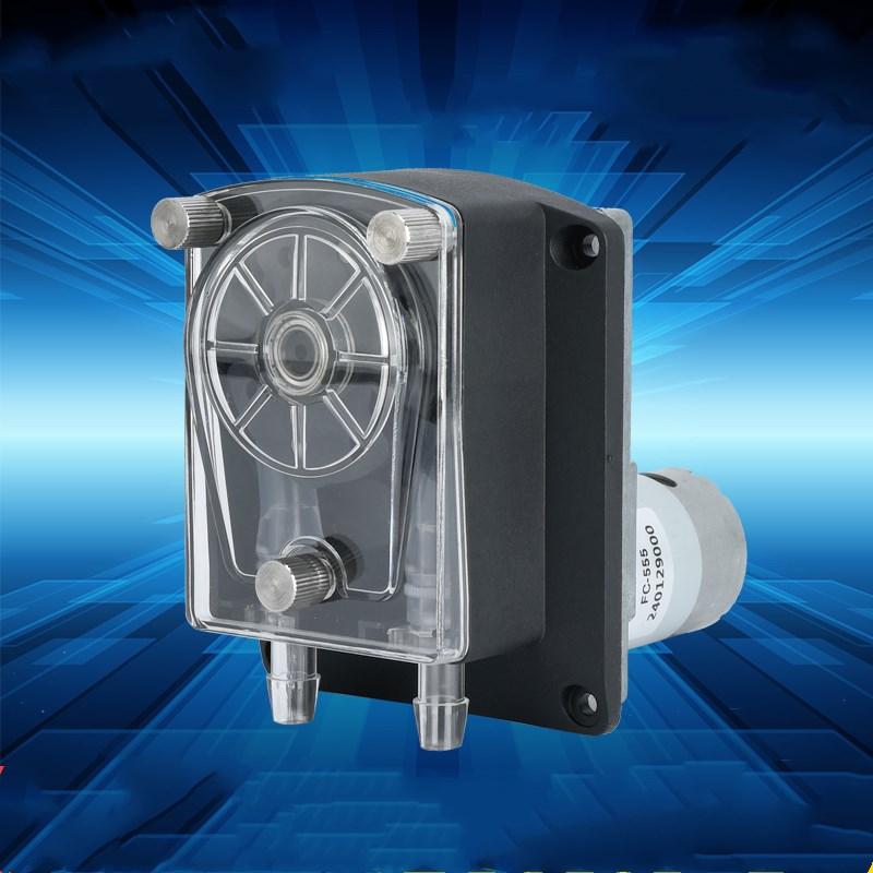DC12V/24V peristaltic pump dosing pump micro sanitary peristaltic pump max flow rate 3000ml/min(24v) bt300f dt15 44 precise dispensing dispenser intelligent dosing pump peristaltic liquid industry laboratory 0 05 610 ml min