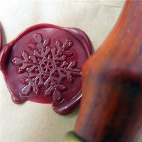 Customize DIY Brass Snowflake Box Set Personalized Double Letter Sealing Wax Wedding Wax Seal Stamp Custom