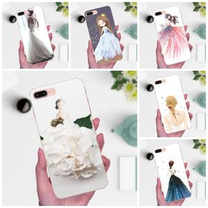 Для Huawei Honor 4C 5A 5C 5X 6 6C 6A 6X 7 7X 8 9 V8 V10 Y3II Y5II Y6II G8 P7 Play Lite TPU Чехлы кожа свадебное платье для девочек