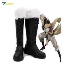 Fire Emblem Awakening Owain Cosplay Shoes Custom Made Boots free shipping fire emblem awakening tiamo cosplay costume