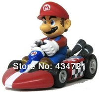 Classic Game Nintendo Super Mario Bros Super Mario Pull Back Kart PVC Figure Toys Spring Back