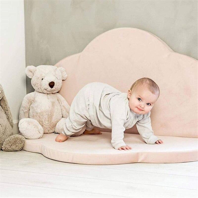 4cm épais enfants tapis bébé tapis de jeu jouets pour enfants ramper Gym fleur Puzzle tapis pliable rond tapis enfant Ins chambre décor