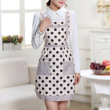 Brand New Style Thicken Cotton Polyester Blend Anti-wear Cooking Kitchen Printed Bib Apron With Pockets