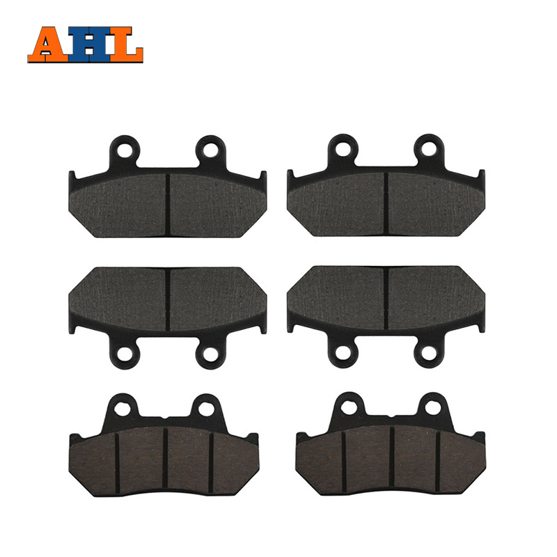 AHL Motorcycle Front and Rear Brake Pads for HONDA GL1500 GL1500SE GL1500L Goldwing GL1500 SE / L 1990-2000 Disc Pad Set motorcycle front and rear brake pads for honda gl1500 gl1500se gl1500l goldwing gl1500 se l 1990 2000 black brake disc pad set