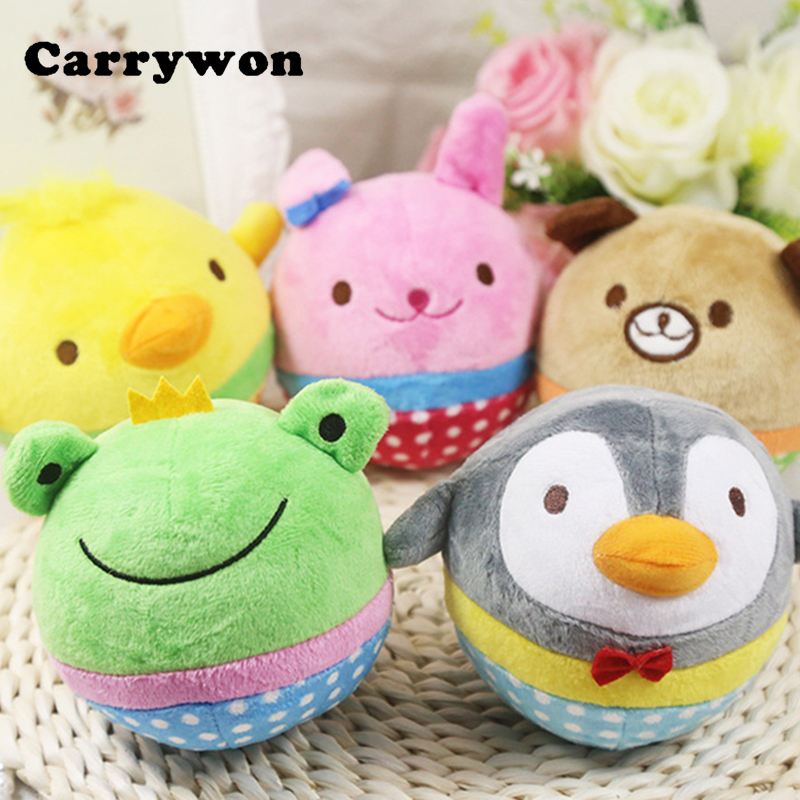 CARRYWON Dog Toys Cute Animal Design Plush Pet Chew Anti Bite Squeaker Squeaky Sound Toy For Small Dogs Cats Pets Products